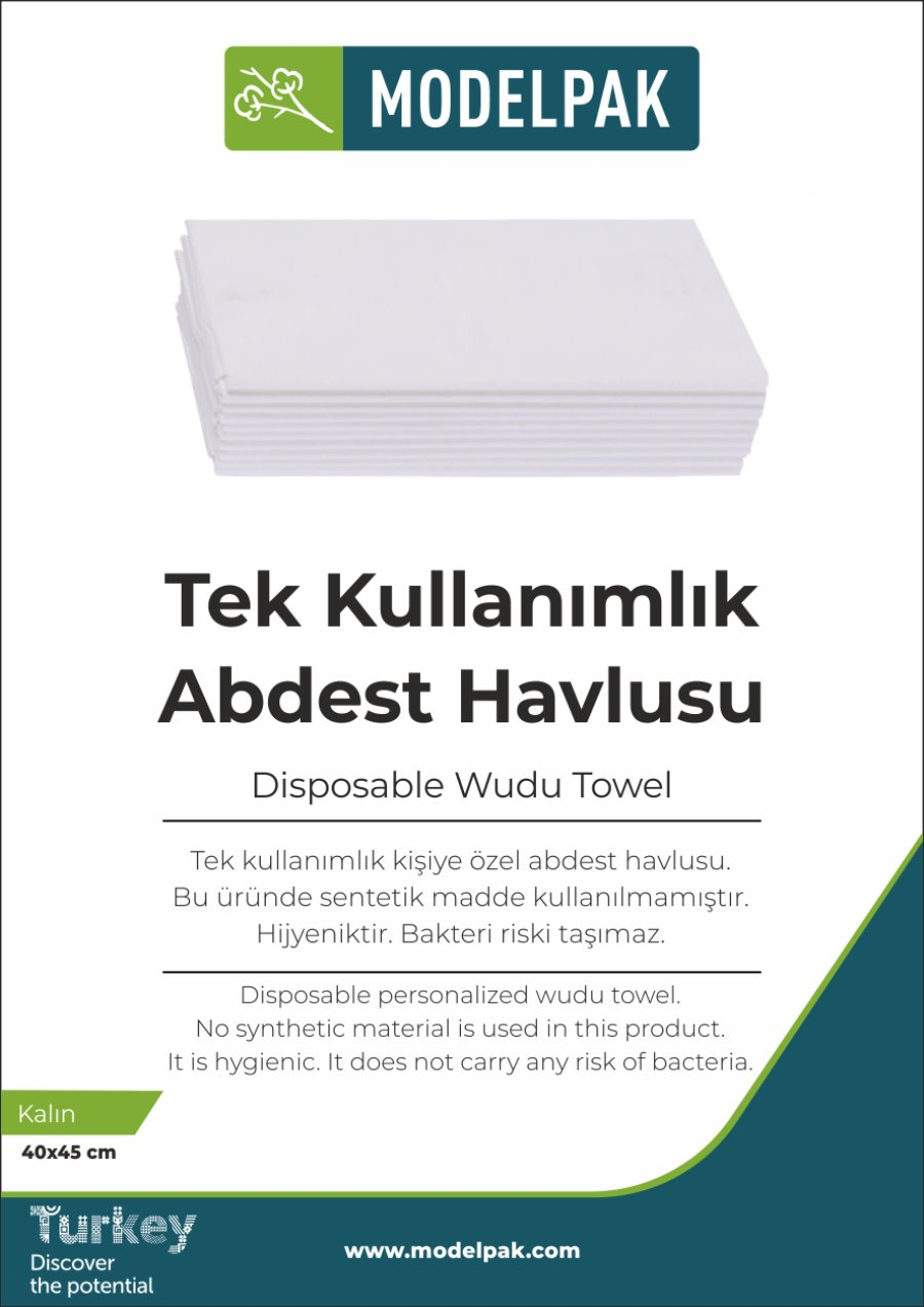 Disposable Wudu Towel 40x45 Cm 50 Pieces