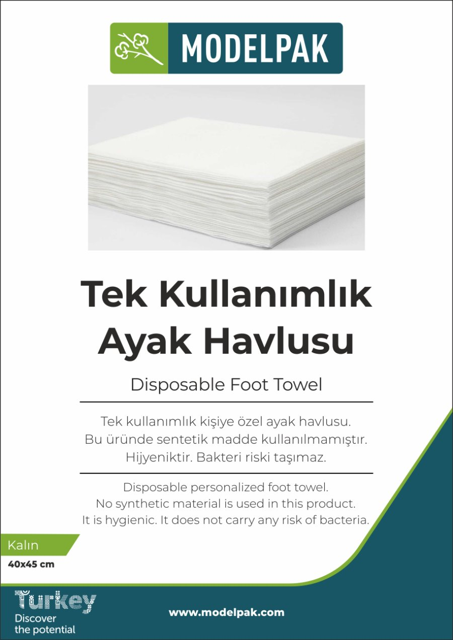 Disposable Foot Towel 40x45 Cm 50 Pieces