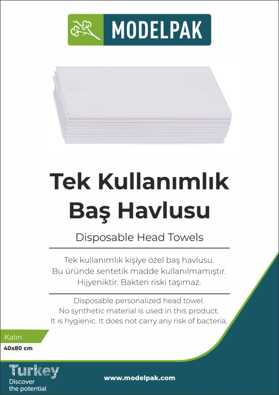 Disposable Head Towel 40x80 Cm 50 Pieces