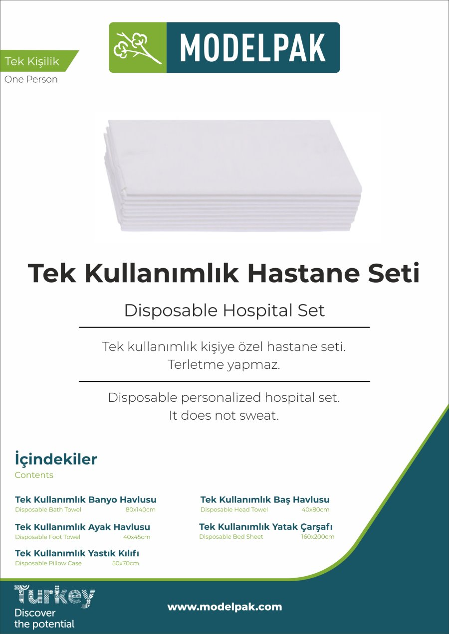 Disposable Hospital Set  10 Piece Trial Pack
