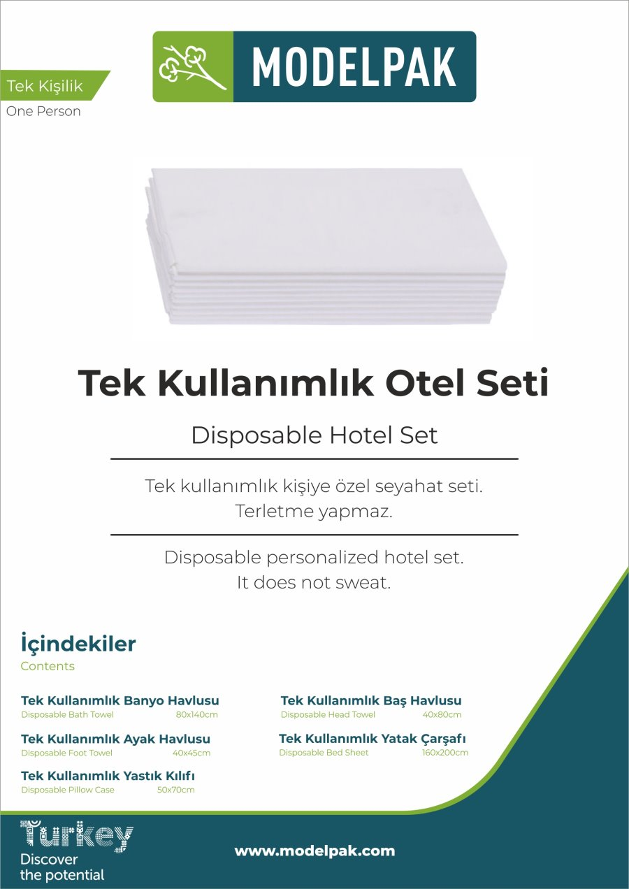 Disposable Hotel Set  10 Piece Trial Pack