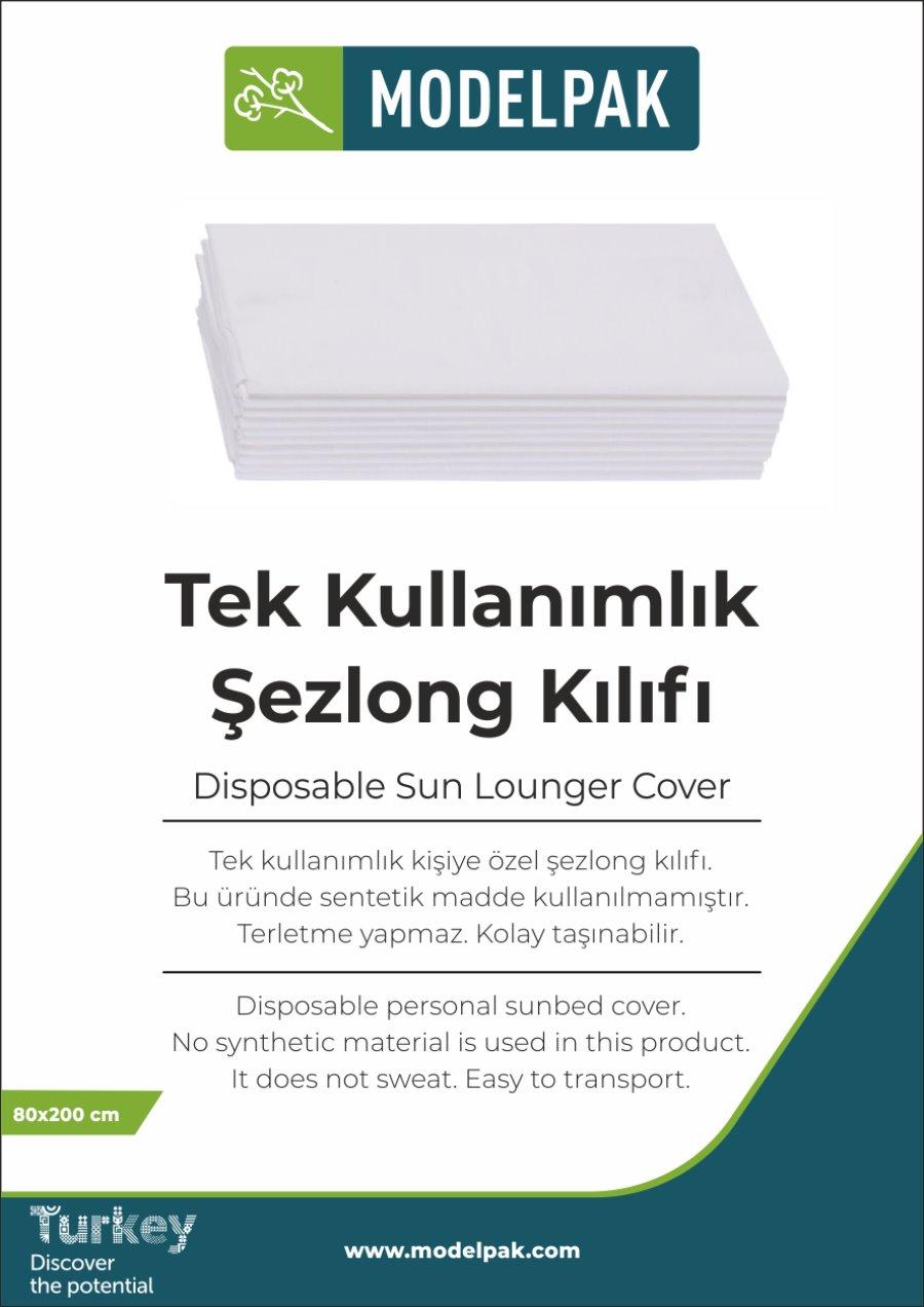 Disposable Sun Lounger Cover 80x200 Cm 100 Pieces
